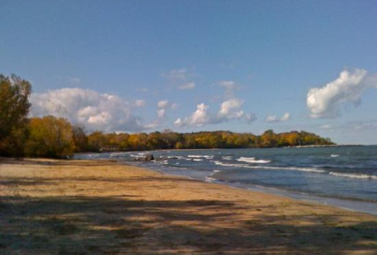 Kelleys Island, OH: Fall at the camper's beach