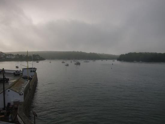 St Mawes, UK: View from room 1 - lovely despite the rain