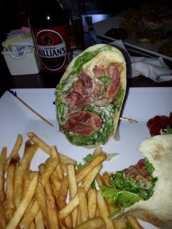 Vevay, Индиана: The steak wrap...with actual steak!