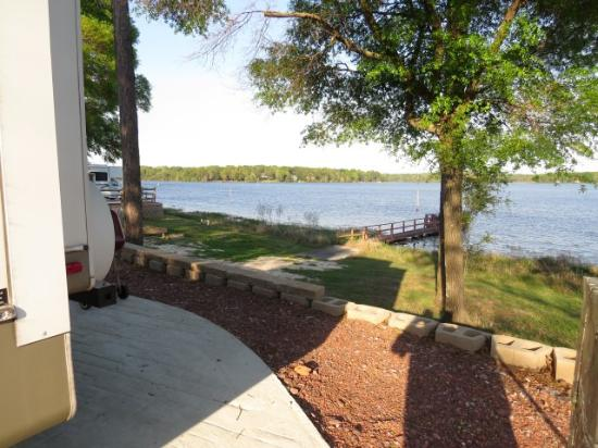 DeFuniak Springs, FL: View from the rear of our site