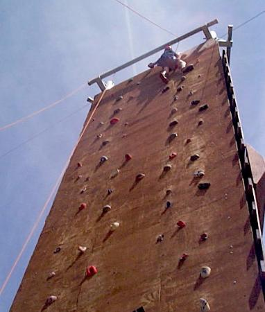 Red Horse Mountain Ranch: Challenge course - rock wall
