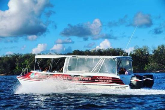 Gold Coast Island Buggy Tours: Luxury boat cruise to Island