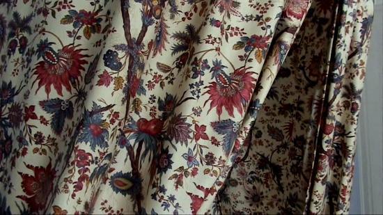 Chateau de l'Aubriere : Magnifique tissu