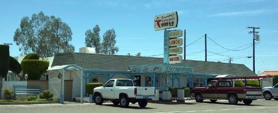 Bernardino's Restaurant: The restaurant front, right one highway 178 in downtown Inyokern.