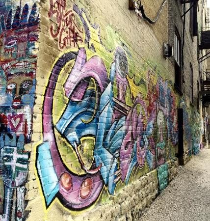 BROOKLYN, NY- MAY 1 Graffiti At East Williamsburg Neighborhood ...