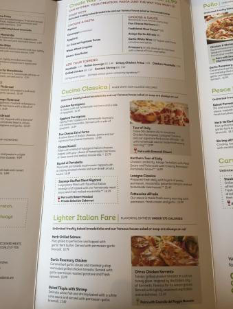olive garden - Olive Garden Menu And Prices