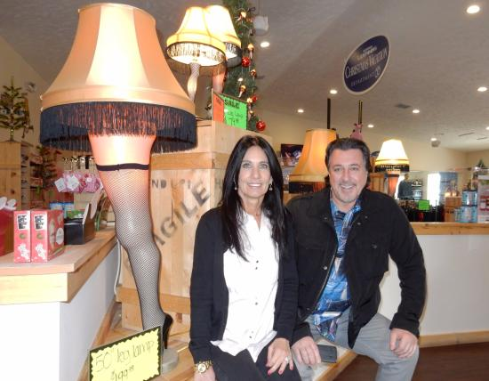 a christmas story house in the christmas story house gift shop with rosario cassata