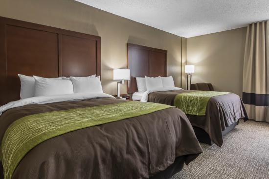 Comfort Inn : Fluffy pillows and comfortable bedding make for a dream experience in our hotel's beds.