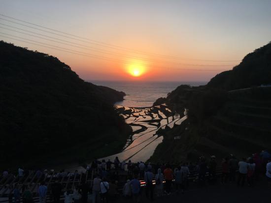 Genkai-cho, Japón: 棚田と夕日