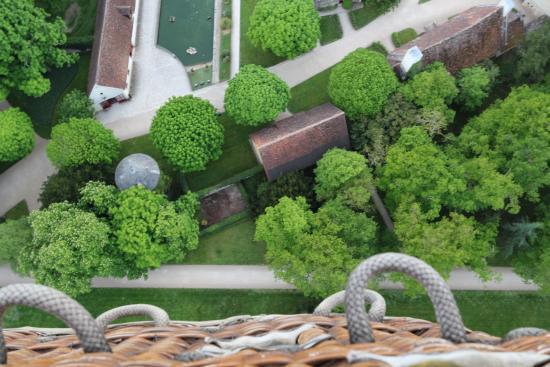 Sainte-Catherine-de-Fierbois, Франция: Vue du ballon (Chenonceaux)