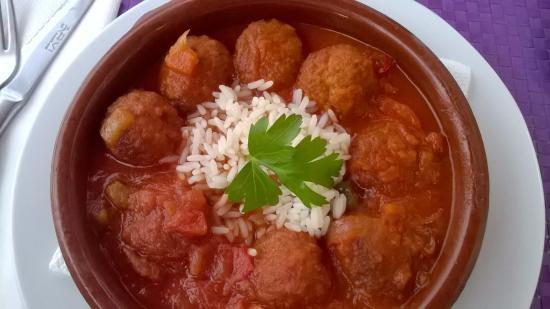 Terraza El Jable : albondigas (Spanish meatballs)