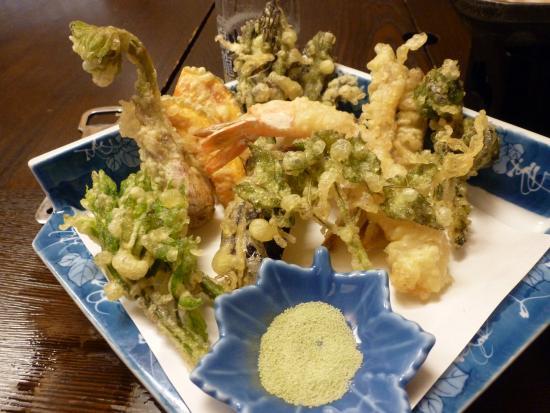 Tenei-mura, Japón: 山菜のてんぷら