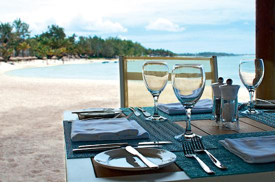 Palmar: Table setting at La Plage Restaurant