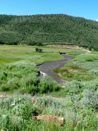 Highway of Legends Scenic Byway: A creek along the way.
