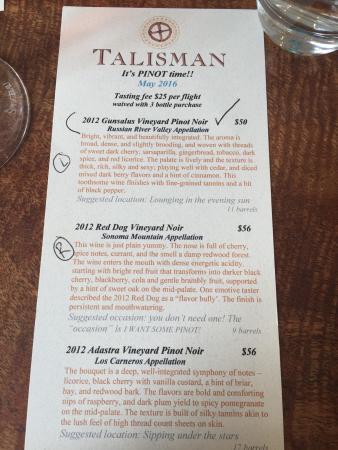 Talisman Tasting Room
