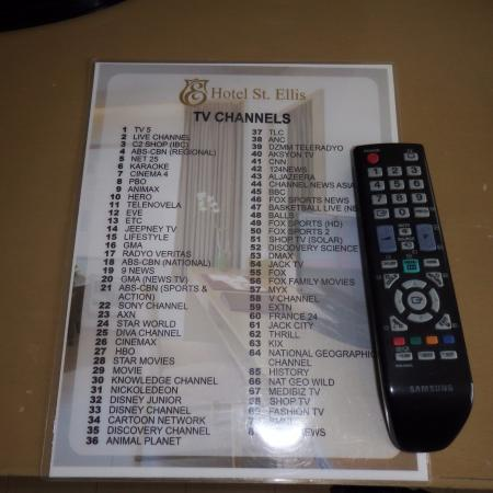 TV channel guide - Picture of Hotel St  Ellis, Legazpi - TripAdvisor