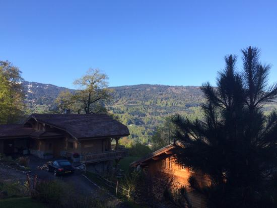 Verchaix, Francia: Vue de la chambre Savoie (balcon)