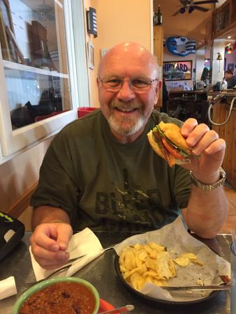 JJ's Eatery Too: Had the gluten free crab sandwich with bacon and avocado. Awesome!!!!