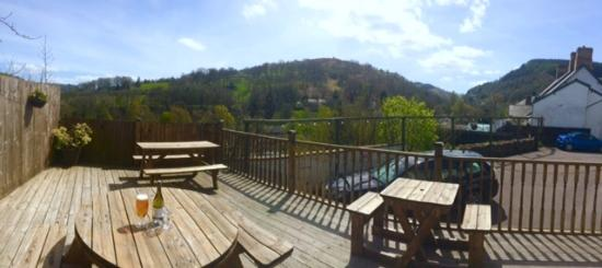 Glyn Ceiriog, UK: Views from the decking