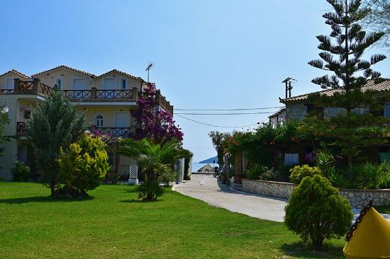 Seaside Apartments: View to the sea from the garden