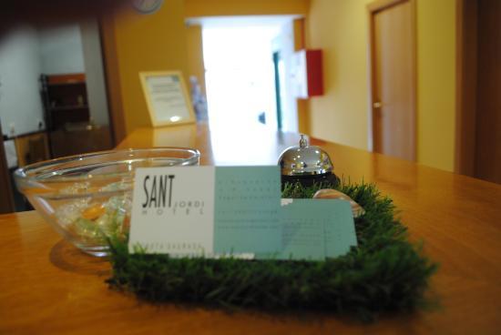 Hotel Sant Jordi : RECEPCION