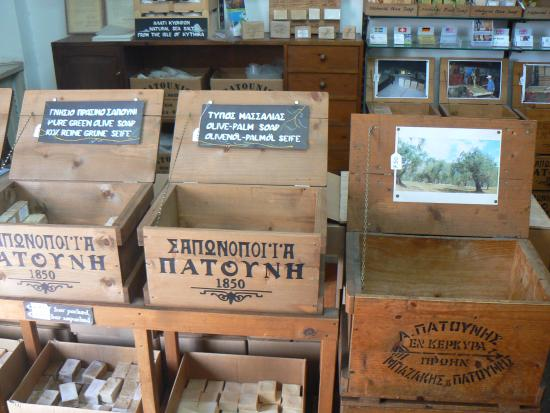 Patounis different kind of soap - Picture of Patounis Soap Factory, Corfu  Town - Tripadvisor