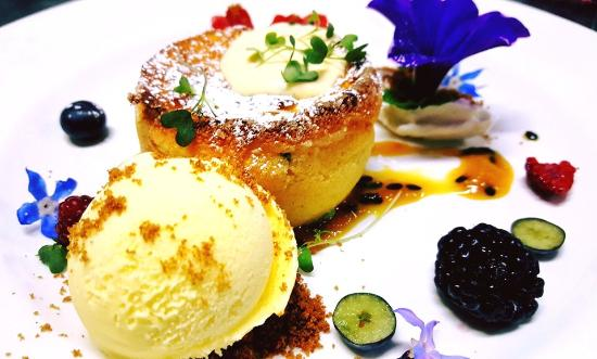 Restaurante Goya: Passion fruit souffle