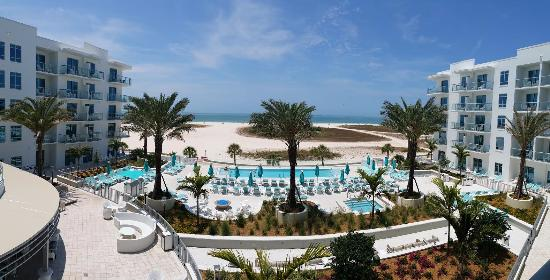 Treasure Island Beach Resort 4th Floor View Of Hotel Gulf Side
