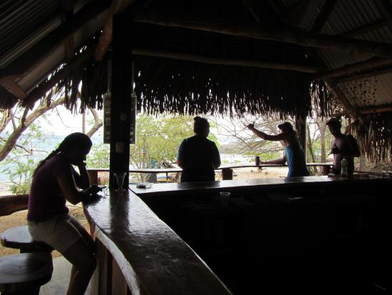 San Juanillo, Costa Rica: Having a drink and out of the sun at Rancho Cocobolo