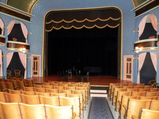 Stoughton, WI: The stage of the Opera House