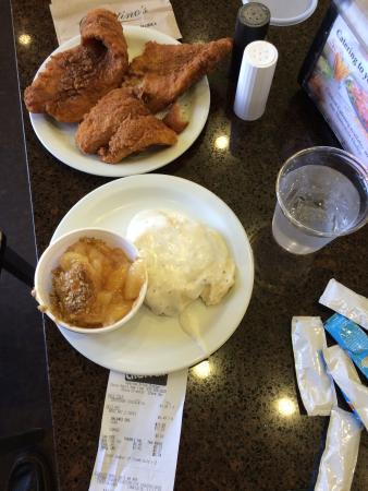 "Kearney, Миссури: $6.49 Friday fish dinner that fills two plates and enough for three meals! How about a 13"" Tende"
