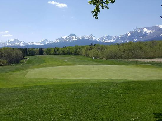 West Glacier, MT : golf course at East Glacier ...  Glacier Park Lodge