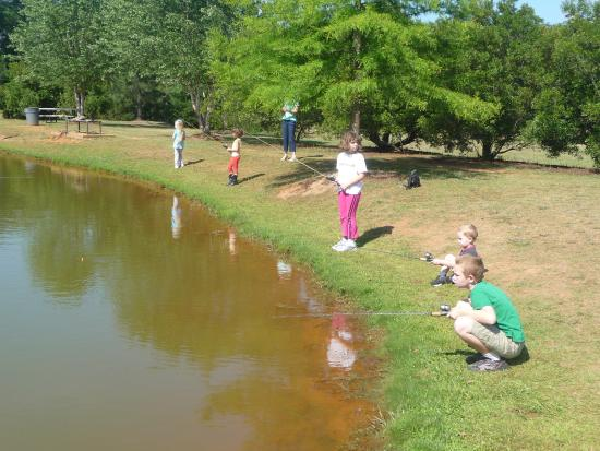 Go Fish Education Center: Some of our homeschool kids fishing.