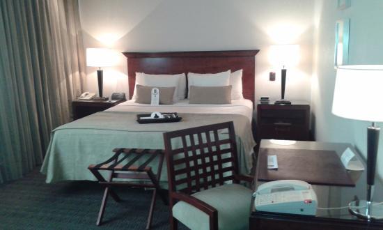 Regal Pacific Hotel Buenos Aires: Vista frontal del sommier. Comodísimo.