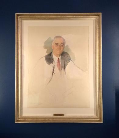 "‪‪Warm Springs‬, جورجيا: The ""unfinished"" portrait being painted when FDR died‬"