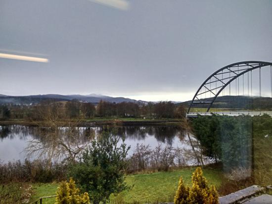 Bonar Bridge, UK: View from the cafe window