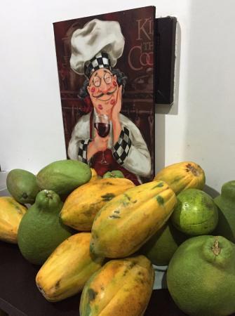 Plaza de Mercado: Pomelo y papayas frescas
