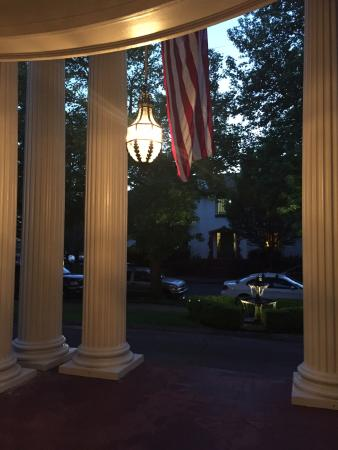 Portland's White House: Columns by front door