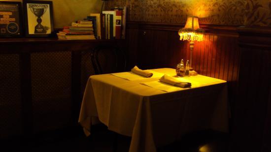 Back Door Cafe for a fine dinner - intimate