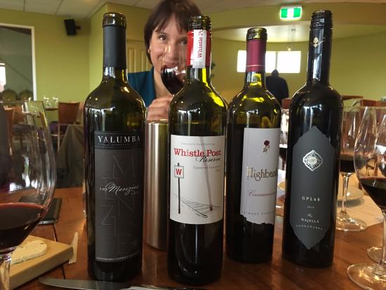 Upstairs at Hollick: Regional wines at this amazing lunchen
