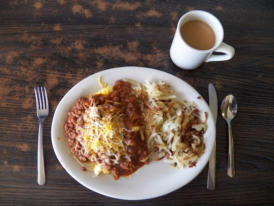 Pippos Diner: Huevos rancheros at Pippo's Diner in Cortez, CO.