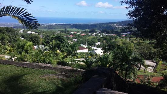 Parc des Palmiers : Vue sur l'océan