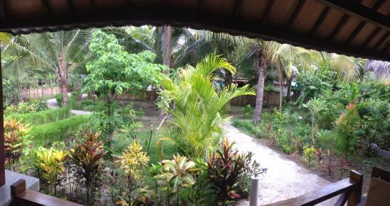 Fantastic Cottages: This was our view each morning as we ate our breakfast on the verandah.