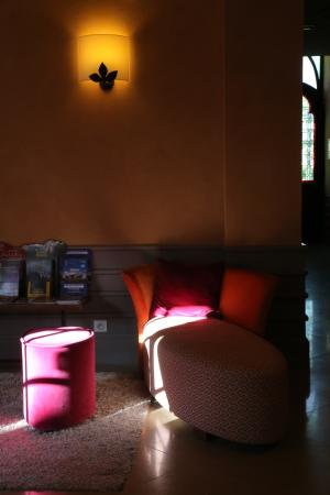 Cour-Cheverny, Francia: The check-in and lounge area