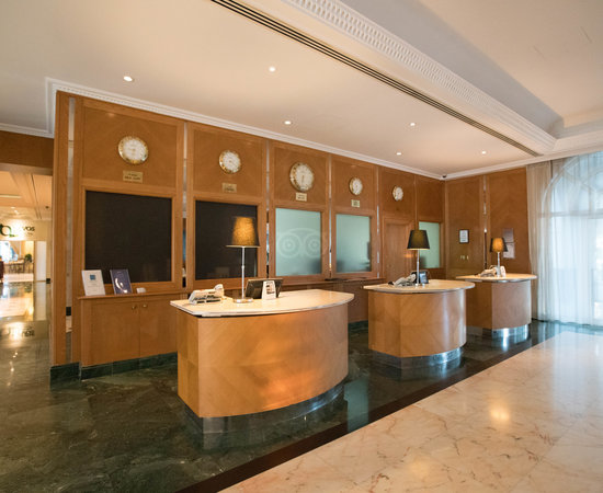 Front Desk at the Radisson Blu Hotel, Muscat