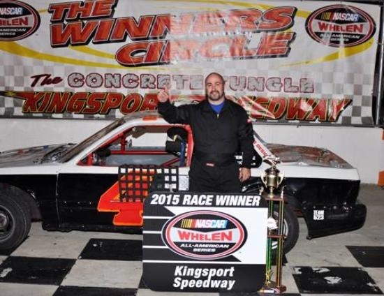 Our son winning his 1st race at the Concrete Jungle in Kingsport, TN