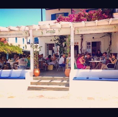 Batsi, Grecia: veranda!!