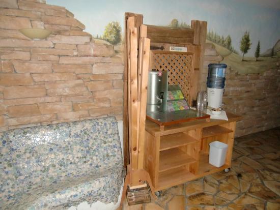 Naturhotel Thalerhof: Teebar im Wellnessbereich