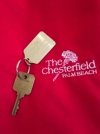 The Chesterfield Palm Beach: A 'real' key and Super Comfortable Bathrobes