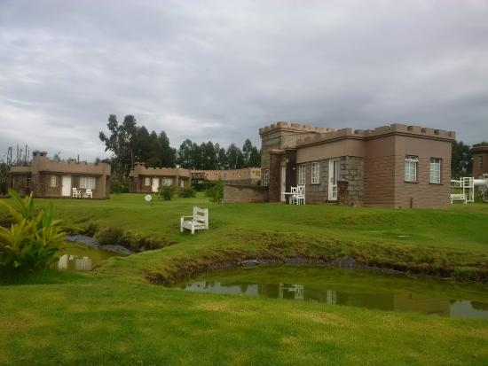 More cottages with fish ponds at the fore front